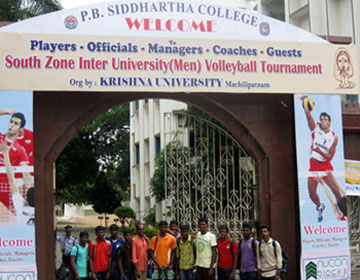South Zone Inter University Volley ball tournament held at KRISHNA UNIVERSITY, Andhra Pradesh, on 08 - 12 Oct 2014