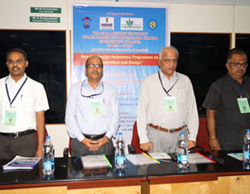 "Workshop on ""Innovation and Design, by Mr.Jham Khandi, Director, MSME and Mr.Anada Murthy, Deputy Director, MSME, organised by Dept of CSE and IISc MSME Bangalore, on 27 Aug 2016"