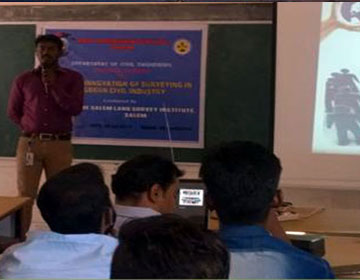 Innovation of Surveying Inmodern Civil Industry, organized by Dept of Civil Engineering and The Salem Land Survey Institute, on 09 Feb 2017
