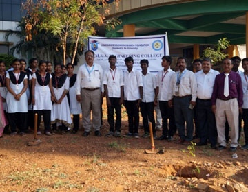 Dr. J. Sabarathinathan, Director - Academics, Vinayaka Mission's Research Foundation - Deemed to be University, Salem, participating in the Tree Plantation Programme
