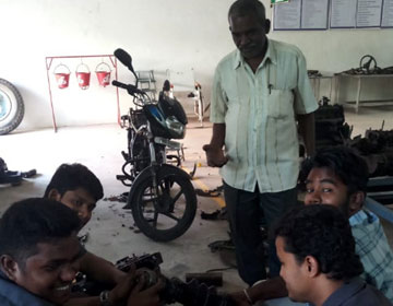 "One Day Workshop on ""Two Wheeler Servicing"", conducted by Dept of Mech, on 12 Apr 2018"