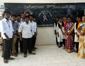 Cancer Awareness Programme, World Cancer Day, Organised by Dept of Biotechnology, on 04 Feb 2018