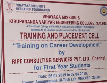 Career Development Training, conducted by RIPE Consulting Services Pvt.Ltd, Chennai, on 26 Feb - 02 Mar 2019